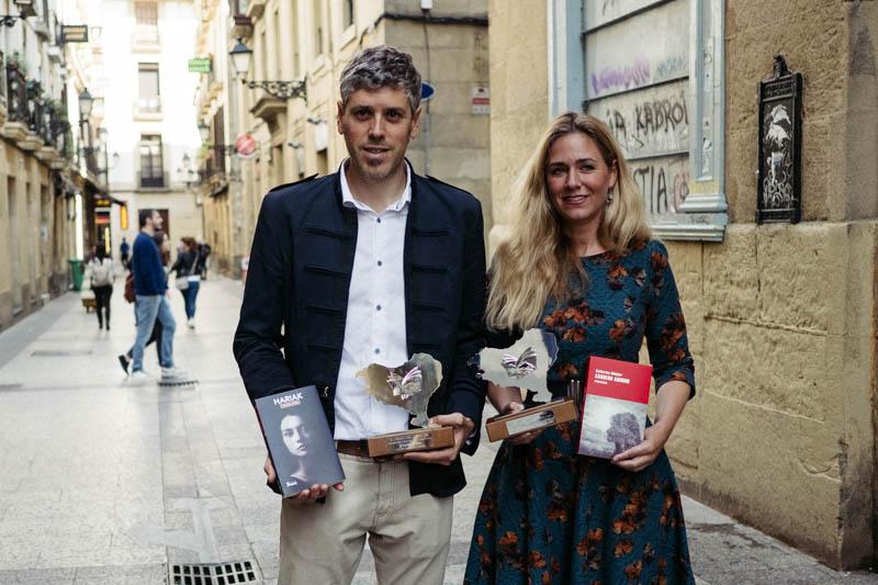 Yoseba Peña y Katharina Winkler, Premios Euskadi de Plata. Foto: Santiago Farizano