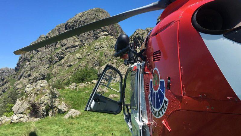 Helicóptero de la Ertzaintza en Peñas de Aia. Foto: Ertzaintza