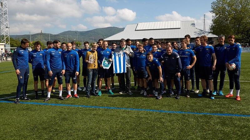 Entrenamiento en Villabona. Foto: Real. Sociedad