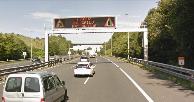 Imagen de la zona afectada por la reducción de la velocidad máxima. Foto: RACVN