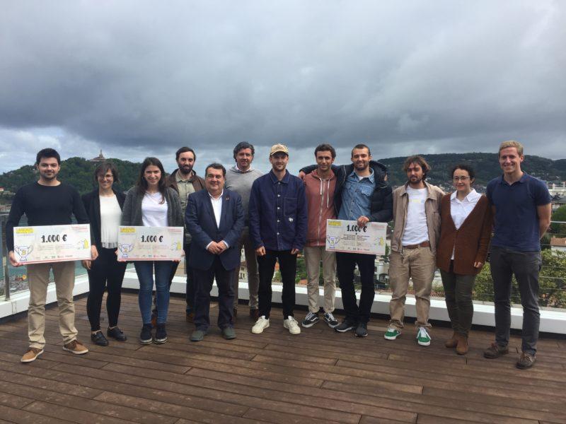 Los participantes junto a Ernesto Gasco, teniente alcalde, hoy en el Talent House. Foto: .Ayto.