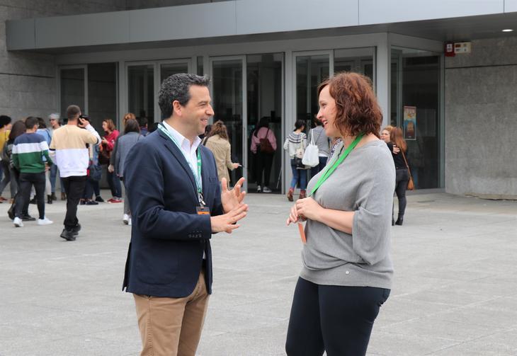 El diputado en funciones Imanol Lasa en las puertas de Ficoba. Foto: Diputación