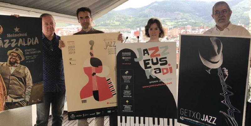 Imagen de los tres festivales. Foto: Gobierno vasco