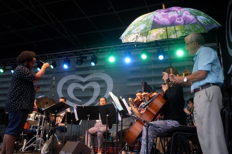 Imagen que se ha vivido en el concierto de Juan José Cabillas with Strings. Fotos: Santiago Farizano
