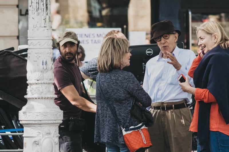El director durante el primer día de rodaje en el Boulevard. Fotos: Santiago Farizano