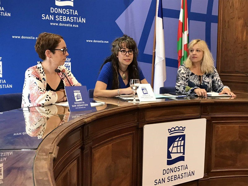 Las tres concejalas de Elkarrekin Donostia. Foto: Ayto