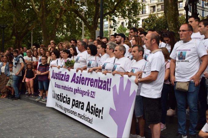 Imagen de archivo. Concentración en recuerdo de Asier Niebla un año después de su muerte. Foto: Diputación de Gipuzkoa