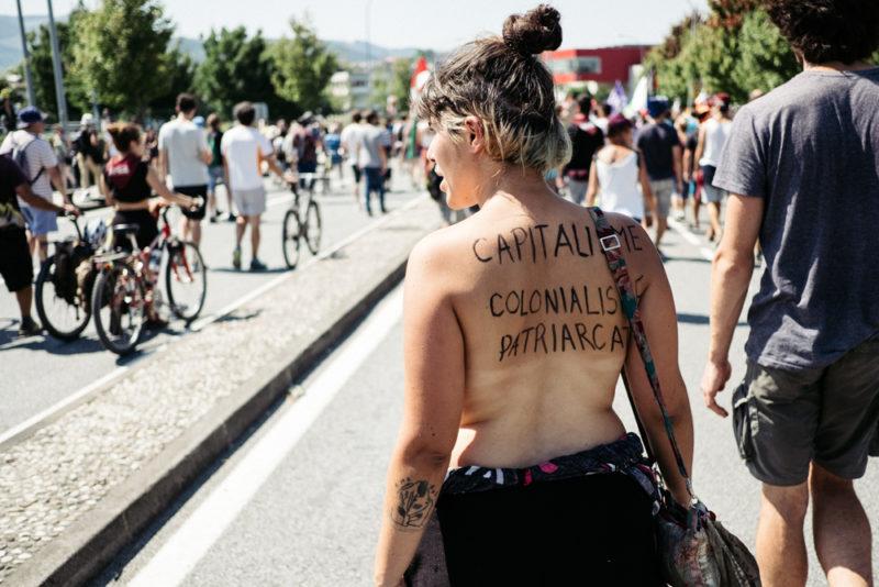 Manifestación de Hendaya a Irun contra la Cumbre del G7. Fotos: Santiago Farizano