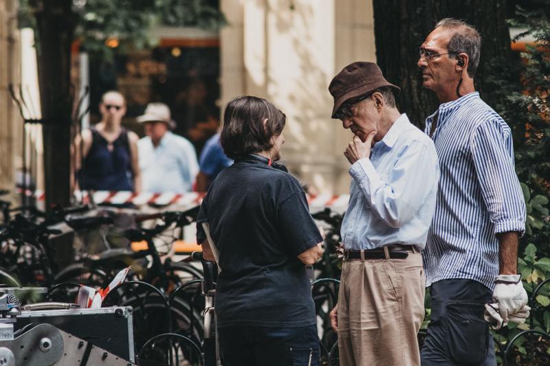 Woody Allen hoy en la plaza Gipuzkoa. Fotos: Santiago Farizano