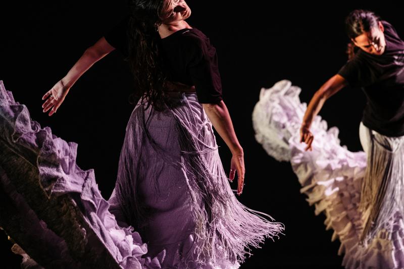 Ensayo de 'Naturalmente flamenco', el espectáculo de esta pasada noche en el Victoria Eugenia. Fotos: Santiago Farizano