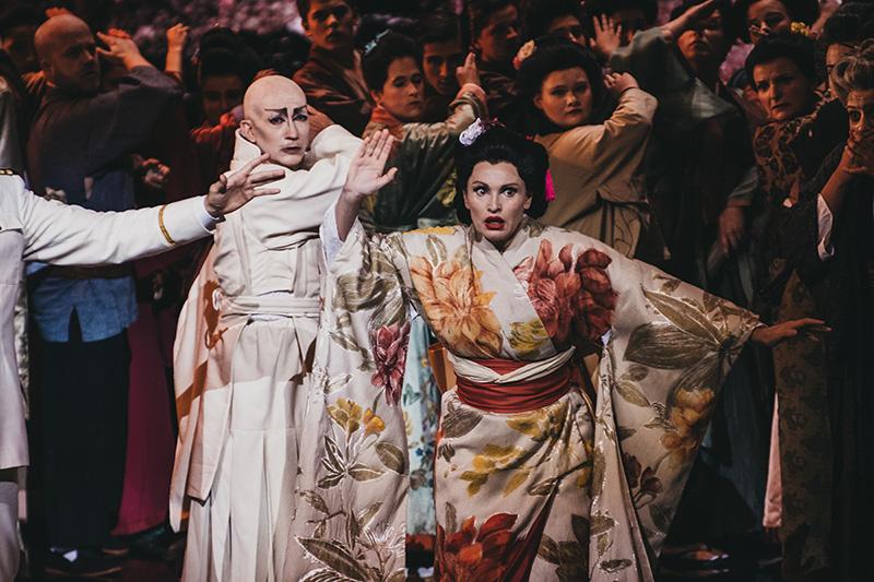 Ainhoa Arteta en Madame Butterfly durante el ensayo general del domingo. Fotos: Santiago Farizano
