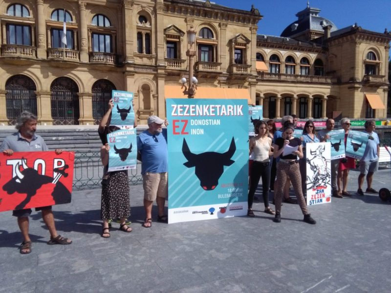 Convocatoria de manifestación antitaurina este próximo miércoles. Foto: A.E.