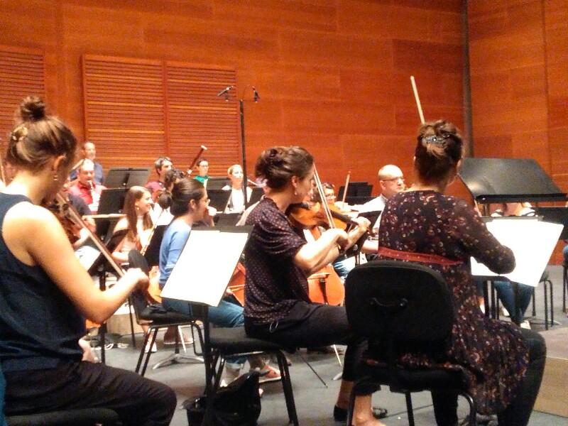 Ensayo de la Mahler Chamber Orchestra esta mañana en el Kursaal. Foto: A.E.