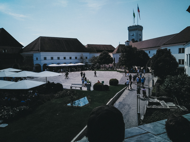 Castillo que se ve desde la ciudad de Ljubljana.