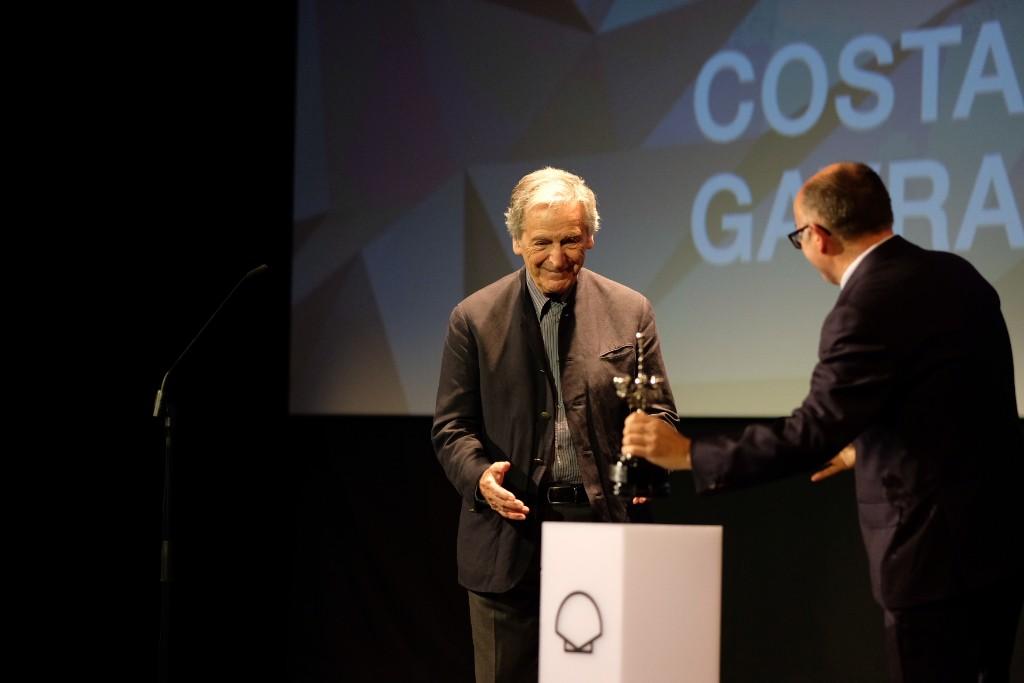 Costa-Gavras recibe el Premio Donostia. Fotos: Santiago Farizano
