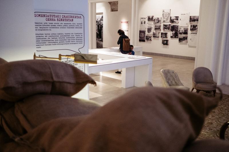 Muestra sobre la Guerra Civil en Gipuzkoa en el Koldo Mitxelena. Foto: Santiago Farizano