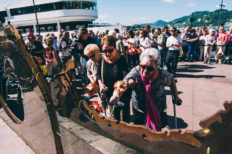 Imagen de la conmemoración de un Día de la Memoria Histórica en Donostia. Foto: Santiago Farizano