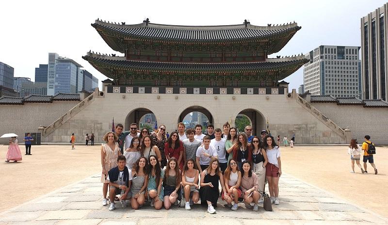 Estudiantes del grado en ADE + Digital Business Skills de Deusto en Corea.