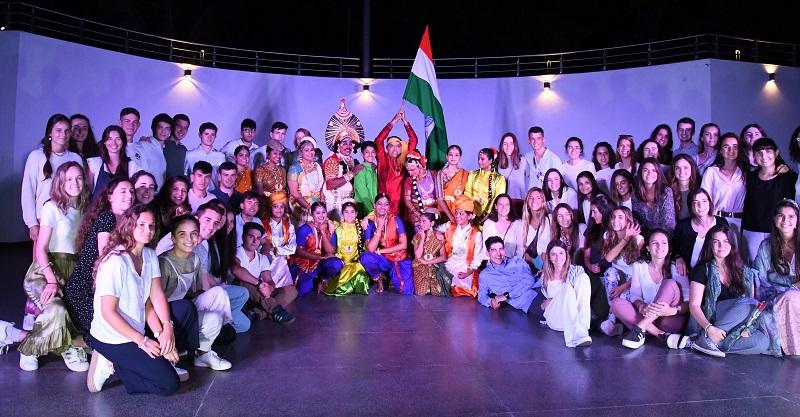 Los alumnos que viajaron a la India.