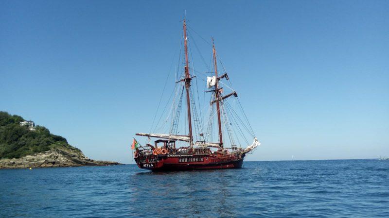 El ATYLA este mediodía en la bahía de la Concha. Foto: Iñigo Berra