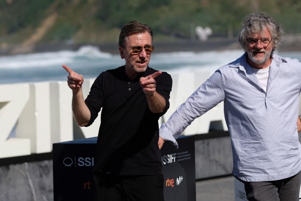 Tim Roth y el director François Girard este sábado en Donostia. Fotos: Santiago Farizano