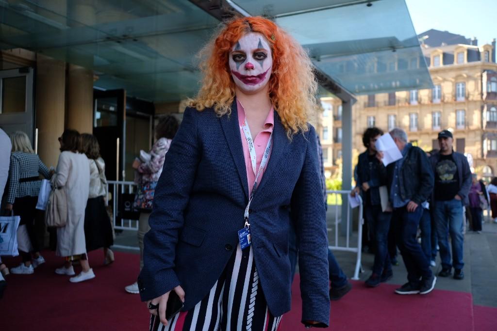 Ambiente en el Victoria Eugenia para ver 'Joker'. Fotos: Santiago Farizano