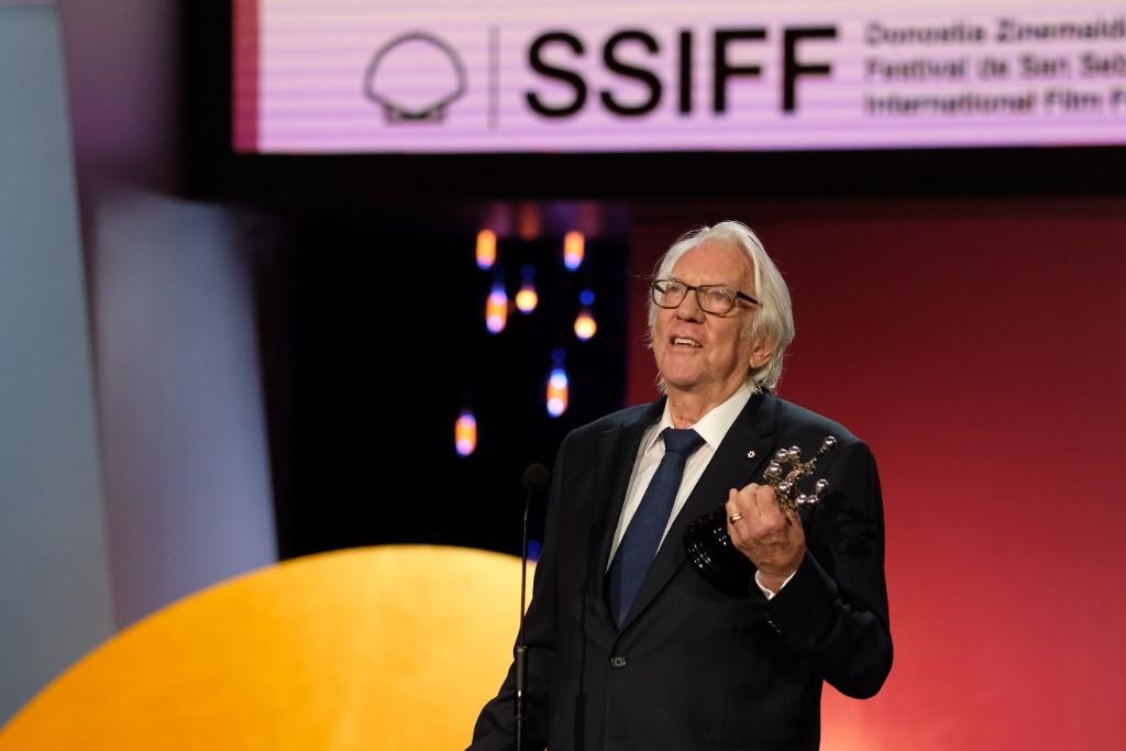 El Premio Donostia Donald Sutherland. Foto: Santiago Farizano