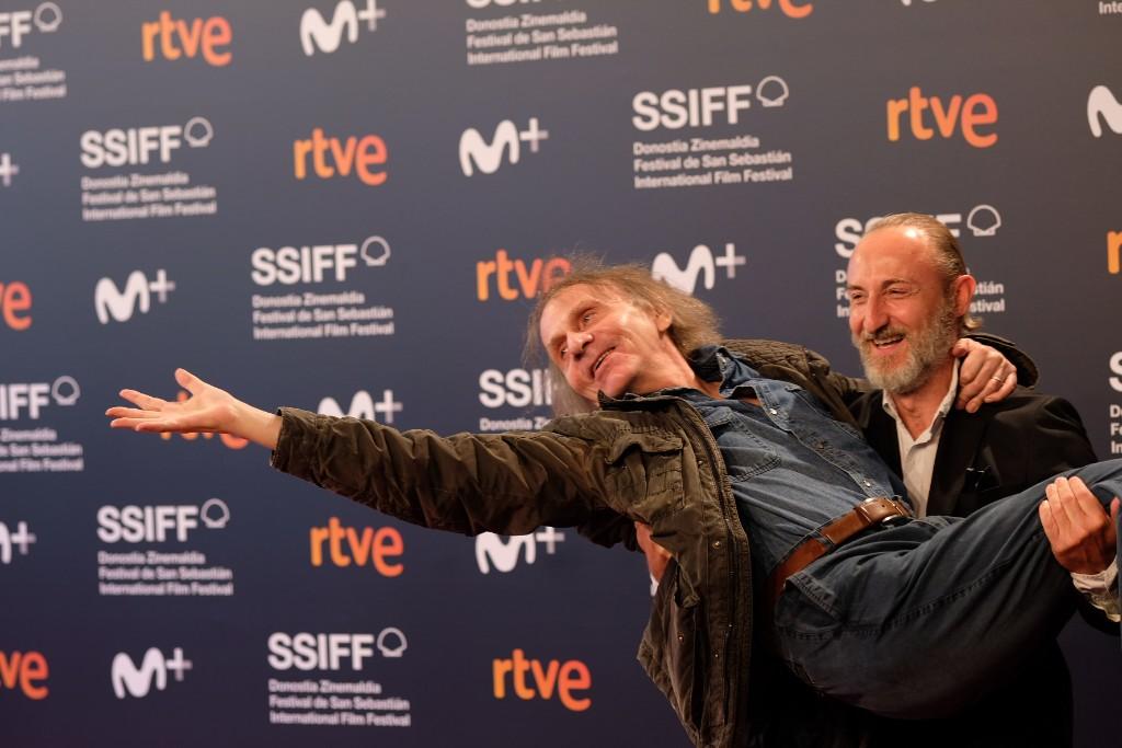 Michel Houllebecq, escritor y actor, y el director Guillaume Nicloux, director de 'Thalasso'. Foto: Santiago Farizano