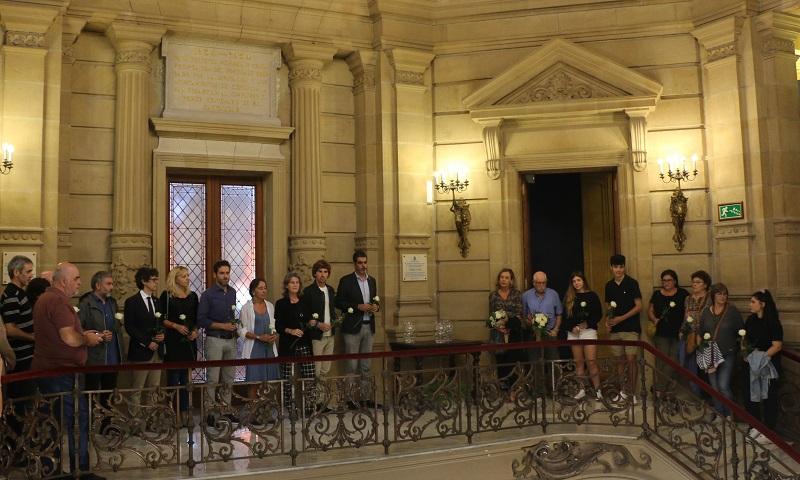 Homenaje a Tomás Alba en el Ayuntamiento. Foto: Ayto.