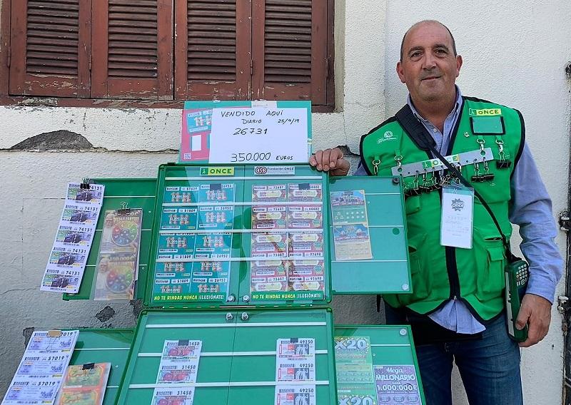 Ioseba Kortabarria ha vuelto a repartir miles de euros. Foto: ONCE.