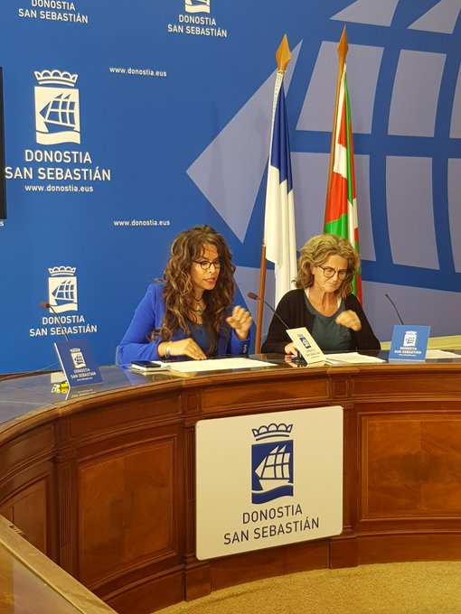 Aitzole Araneta y Reyes Carrere. Foto: EH Bildu