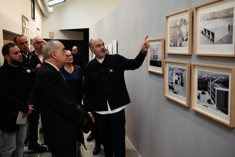 Inauguración de la exposición sobre la Escuela de Ulm dentro de MUGAK. Fotos: Santiago Farizano