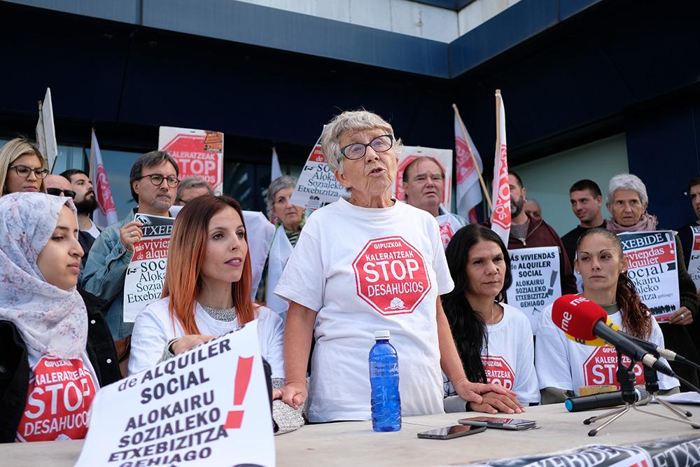 Concentración de Stop Desahucios. Foto: Santiago Farizano