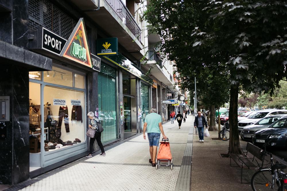 Avenida Isabel II de Donostia, situada en Amara. Foto: Santiago Farizano