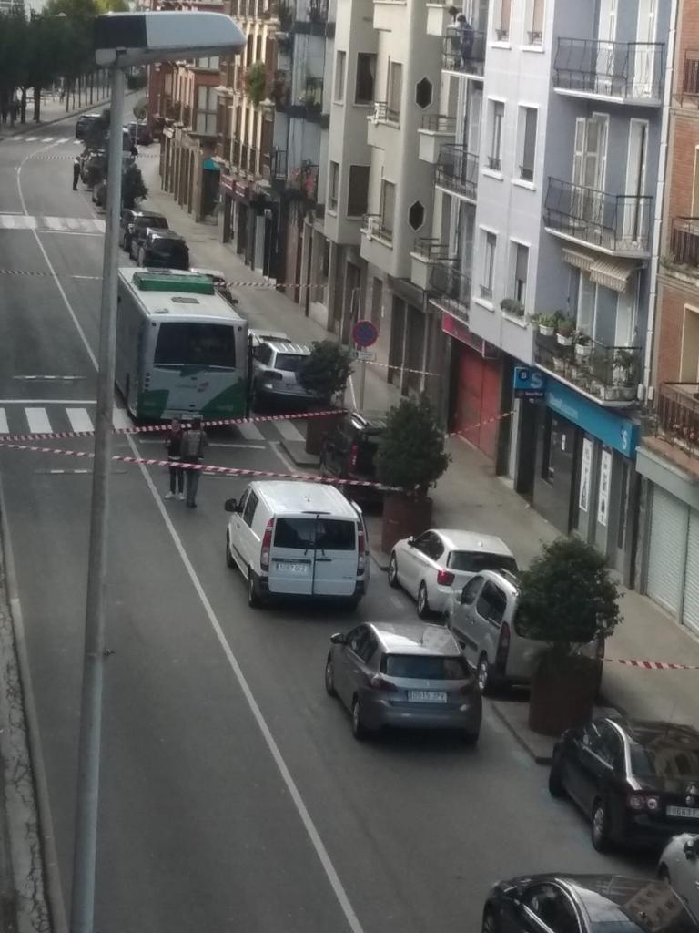 El autobús donde tuvo lugar la agresión el 27 de octubre de 2019, ya en Villabona. Foto: cortesía de Aiurri (https://aiurri.eus/)
