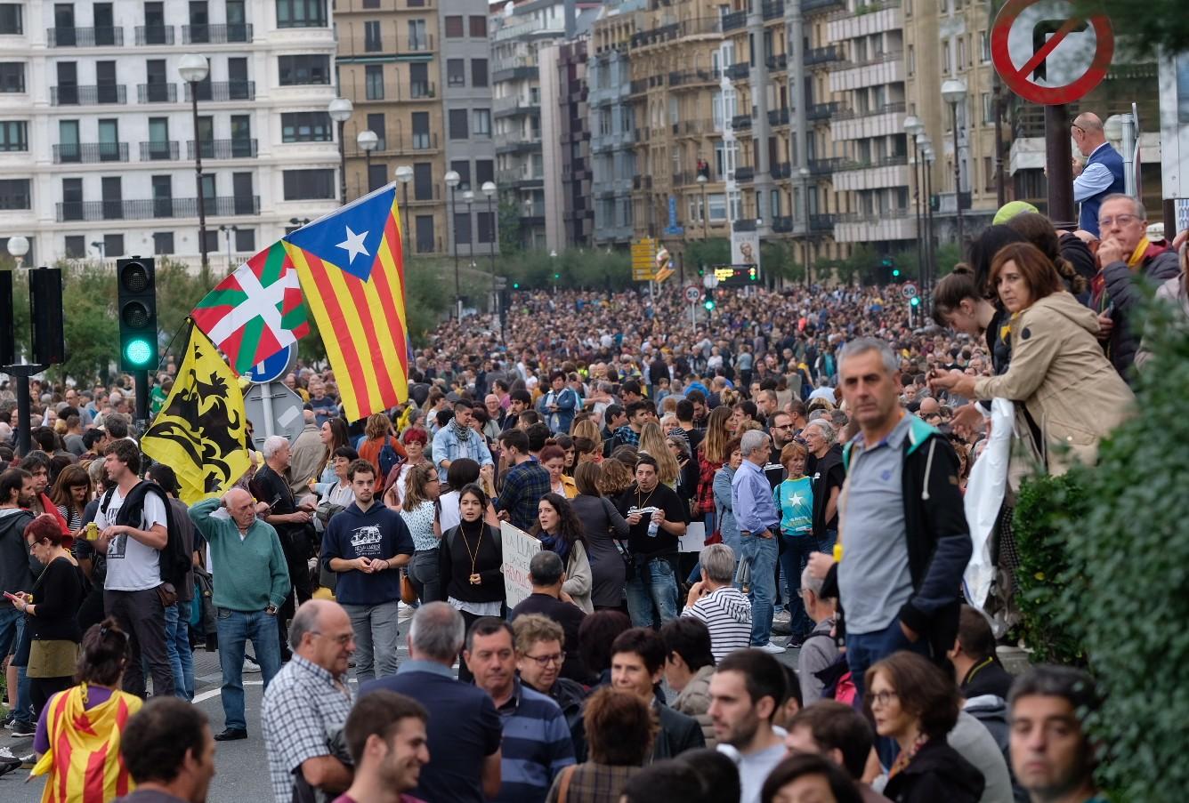 Manifestación contra la sentencia del 'procés'. Fotos: Santiago Farizano