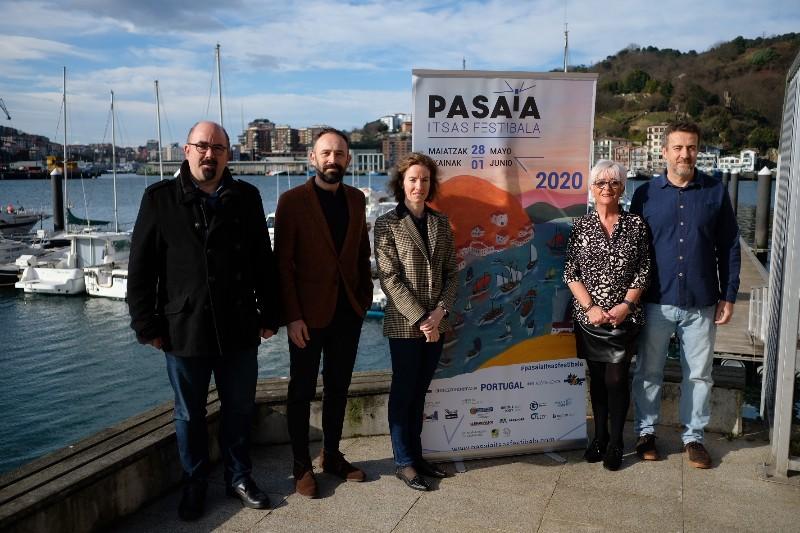 Presentación este mediodía del nuevo Pasaia Itsas Festibala. Foto: Santiago Farizano