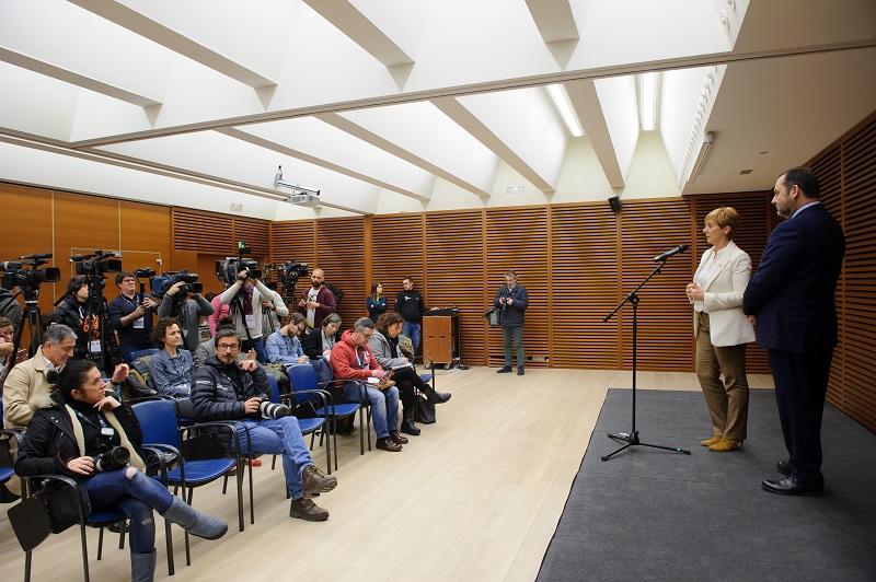 Ábalos y Tapia hoy en Donostia. Foto. Gobierno vasco