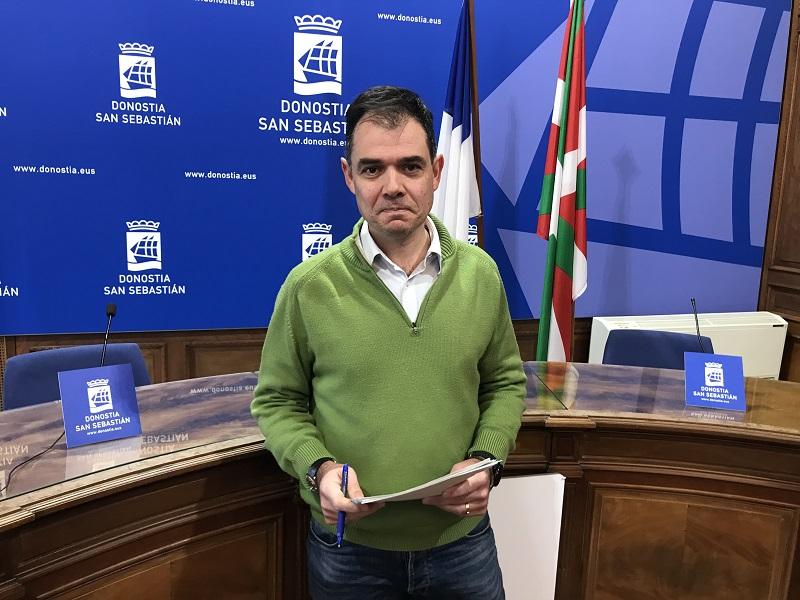 El concejal Ricardo Burutaran hoy. Foto: Ayto.