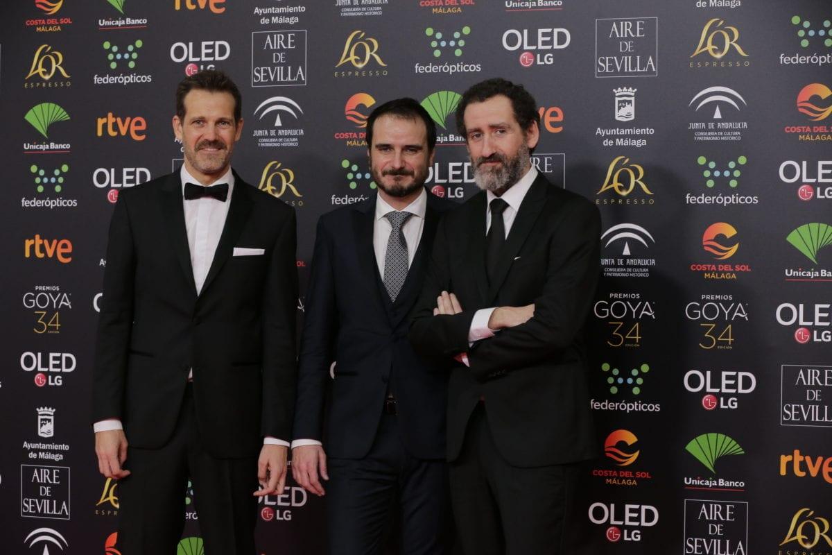 A la llegada de Goenaga, Arregi y Garaño a los Premios Goya. Foto: Premios Goya