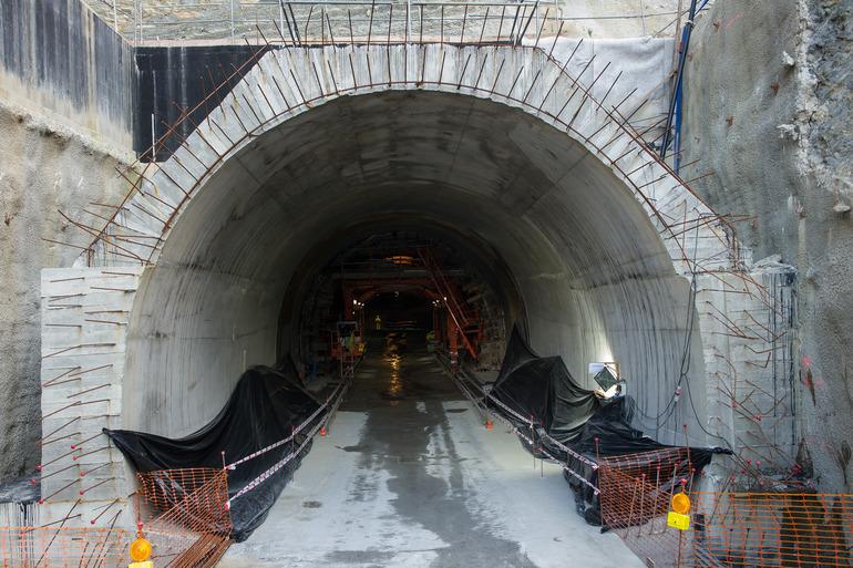 Fin de la excavación de la futura estación de Easo-Amara del Topo. Foto: Gobierno vasco