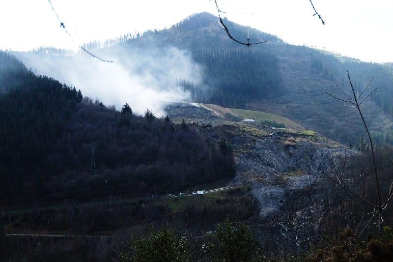 Derrumbe del vertedero de Zaldibar. Foto: Santiago Farizano