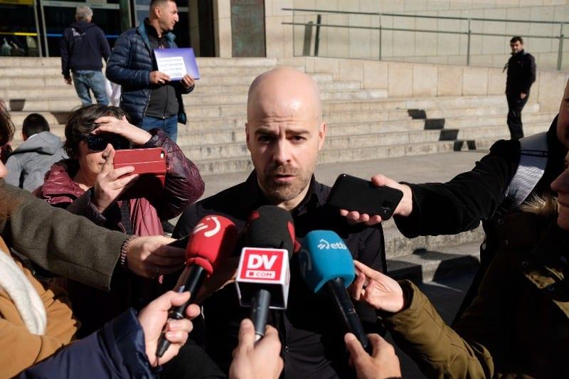 El abogado de las víctimas Mario Díez. Fotos: Santiago Farizano