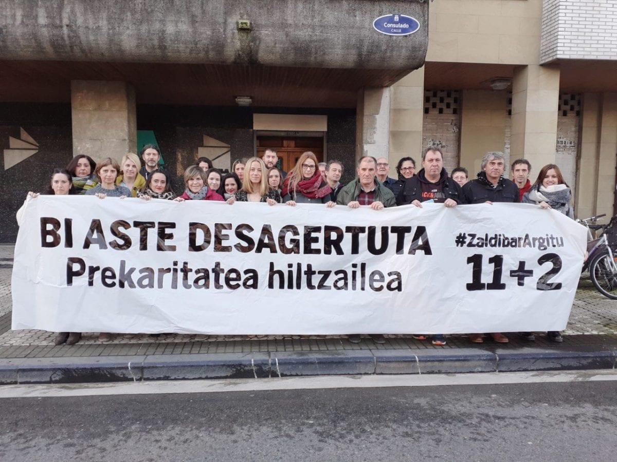 Trabajadores de ELA en su sede de Amara. Foto: ELA