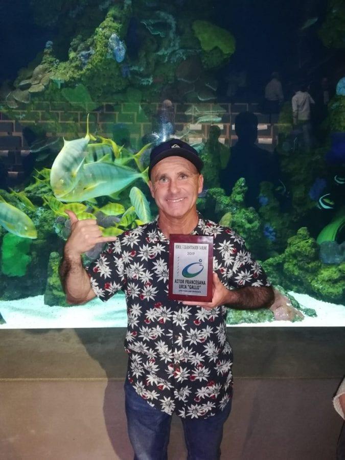 Aitor Francesena 'Gallo' ayer en el Aquarium. Foto: GSF