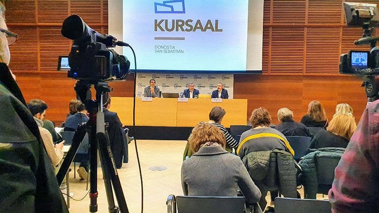 Balance del año 2019 en el Kursaal esta mañana. Foto: Kursaal