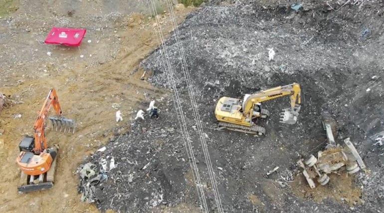 Búsqueda en Zaldibar de los desaparecidos. Foto: Gobierno vasco
