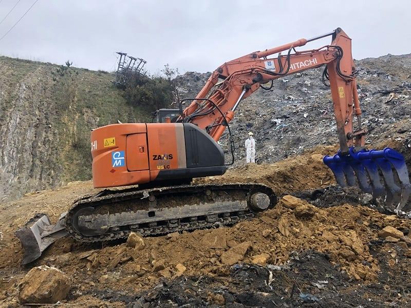 Excavadora en el vertedero de Zaldibar. Foto: Gobierno vasco