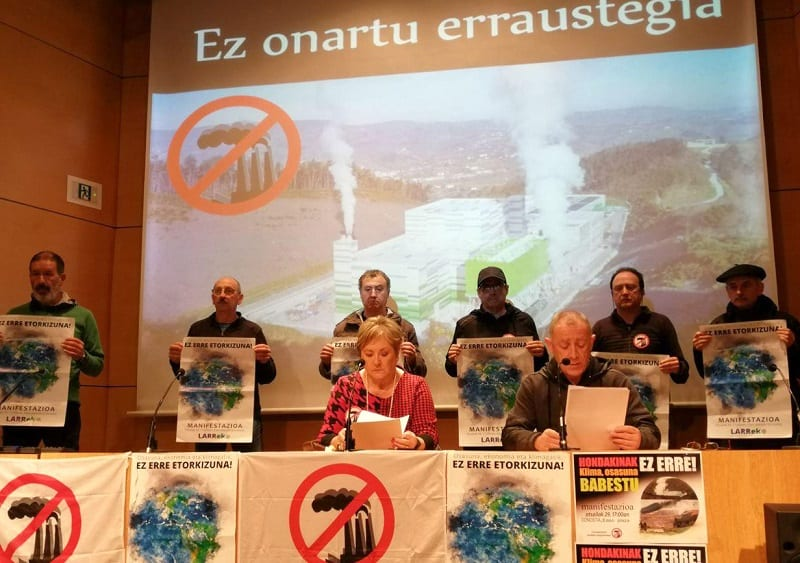 Portavoces del Movimiento contra la Incineración.