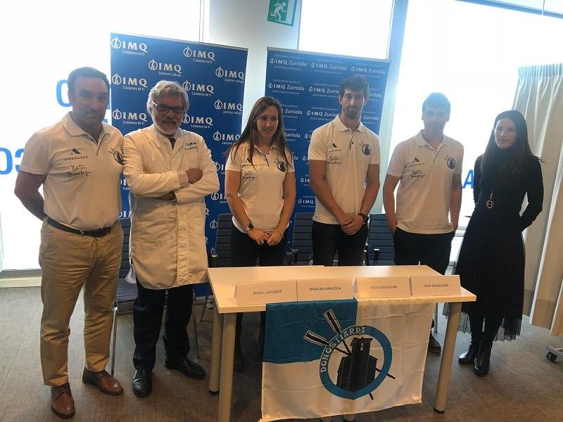 Representantes de Kaiarriba en los reconocimientos médicos. Foto: Kaiarriba